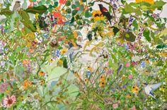 Joan Becker, The Lot on 2nd Street, Watercolor, 60 x 40. 2012.