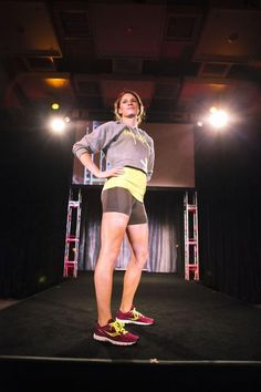 Love this pic of @jenawinger...in the Trials Hoodie and @saucony kicks!