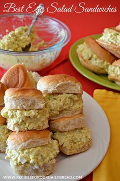 Egg Salad Sandwiches on Hawaiian Rolls http://recipesforourdailybread.com/wp-content/uploads/2013/03/Egg-Salad-Sandwiches-on-Hawaiian-Rolls