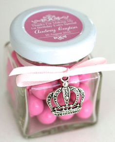 Princess Party Favour Personalised Chocolates Candy Jar with