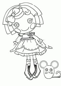 Lalaloopsy Doll Coloring Pages Mittens Fluff N\' Stuff Doll ...