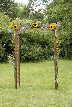 BBQ Wedding Arbor - decorated with flowers from my Mom's gardens. | Flickr - Photo Sharing!