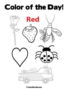 Color of the Day Red coloring page from TwistyNoodlecom  Color