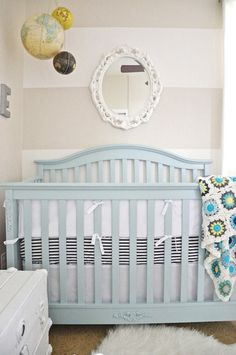the boo and the boy: gender neutral nurseries - another cute color scheme for boy/girl room  Love the neutral stripes