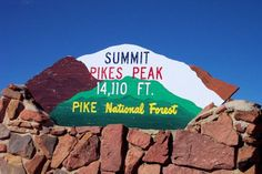 Pikes Peak, Colorado---it was in july when we went and it was snowing right here at this sign