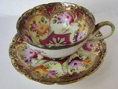 Isn't this antique Tea Cup & Saucer exquisite?