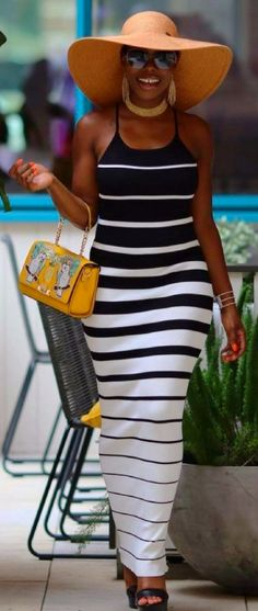 Everything Lines Up Maxi Dress from @cityrepublik  //  Fashion Look by phyliciabenn