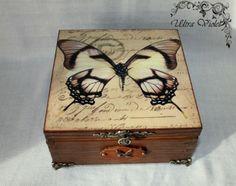 Exclusive  Teebox (Holz geflammt) von Exklusive Geschenke. auf DaWanda.com