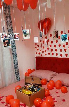 Anniversary Gift Ideas For Him Boyfriend, Birthday Gifts For Boyfriend Diy, Cute Boyfriend Gifts, Birthday Gifts For Sister, Birthday Room Surprise, Anniversary Surprise, Birthday Surprises, Girlfriend Birthday, Teen Birthday