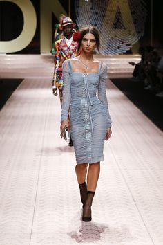 40a8de39b337 Dolce   Gabbana Spring Summer 2019  DGDNA Women s Fashion Show Runway.  Dolce