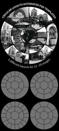 Circular Layouts Automated PSD Templates