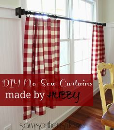 Savvy Southern Style: The Mister Made Easy No Sew Curtains #bHomeApp