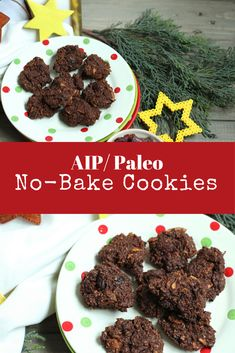 These AIP/ Paleo No-Bake Cookies are the cookies you remember from your childhood with no nuts processed sugar grains or chocolate. AIP/ paleo/ autoimmune protocol/ no-bake cookies/ christmas/ adventures in partaking Healthy Cookie Recipes, Paleo Treats, Healthy Cookies, Paleo Recipes, Paleo Dessert, Dessert Recipes, Desserts, Paleo No Bake Cookies, Healthy Christmas Cookies