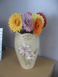 Hand Crafted Single Paper Gerbera Flowers available in any colour you choose by JustJulesHomeDecor on Etsy