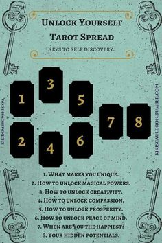 Unlock Yourself Spread #tarotcards&inspiration #tarotcardstips