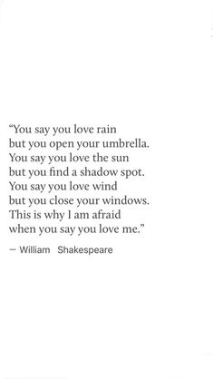 No way Shakespeare said this. There weren't umbrellas back then plus what work of his would this fit in to?