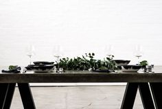The Secret To A Stylish Dinner Party - Harper and Harley Concrete Table, Host A Party, Party Party, Home And Living, A Table, House Design, Entertaining, Table Decorations, Effort