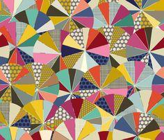 geo brolly fabric by scrummy on Spoonflower - custom fabric