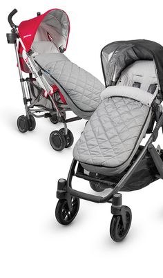 Introducing our latest warm weather accessory - the CozyGanoosh! Optimized for all UPPAbaby strollers, the CozyGanoosh is the ultra-plush and heavyweight footmuff to keep your child even warmer in less than desirable conditions. Now you can stroll with ease knowing your child has the ultimate coverage.