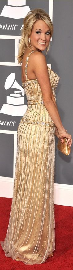 Carrie Underwood. Love this Beautiful dress!