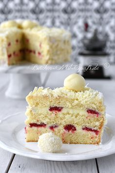 Weiße Schoko- Trüffel- Torte