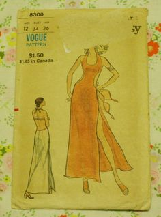 Vogue 8306 Vintage Sewing Pattern 1940s Beach by EleanorMeriwether, $18.00