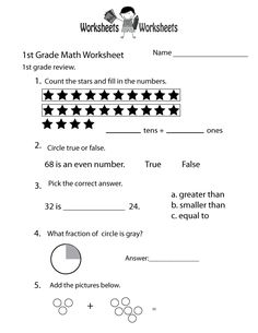 Printables 6th Grade Math Review Worksheets 1st grade math grades and worksheets on pinterest two ways to print this free educational worksheet daily review