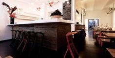 PROJECT: Restaurant DUDU, Berlin  PRODUCT: Plank's Miura stool PHOTOGRAPHER: Steve Herud