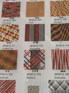 Next seasons fabrics - up close.