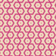 Joel Dewberry - Notting Hill - Hexagons in Magenta