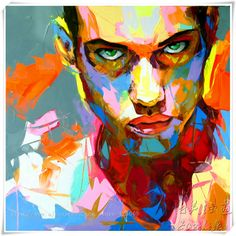 Stree Art Pop Art Oil painting on canvas hight Quality Hand painted Painting Cool Guy Staring At You-in Painting & Calligraphy from Home & G...
