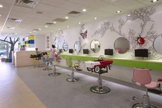 Colorful, Nature-Inspired Hair Salon for Kids in New York