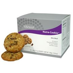 The ViSalus Nutra-Cookie is more than a protein snack.  It's packed with nutrition!  It's ideal for anyone who wants a healthy snack on the go or a boost of energy for the day.  It can be used as a snack (one cookie) or as a meal replacement (two cookies).  Comes in oatmeal, chocolate chip and peanut butter.  Oatmeal and chocolate chip have 9 g of protein per cookie, and peanut butter has 10 g of protein per cookie.  This cookie is certified Kosher, as well.