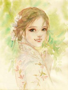 春风十里 只有你-ENOFNO__涂鸦王国插画