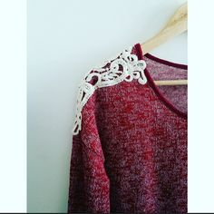 Cozy Sweater Great Condition! Dark red tones. It goes beautifully with dark jeans. Sweaters