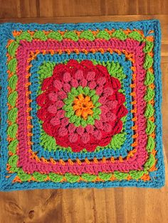 Ravelry: nschlegel's Floral Dimension Afghan Square