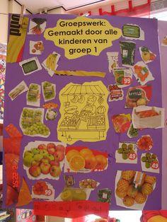 thema winkel: groepswerk: sorteren Math Activities For Kids, Very Hungry Caterpillar, Preschool, Restaurant, Fruit, Money, Easy Meals, Kid Garden, Diner Restaurant