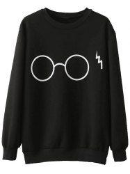 Glasses Funny Fleece Sweatshirt
