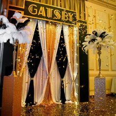 Important link provided quinceanera party decorations Great Gatsby Party Decorations, Great Gatsby Themed Party, Prom Decor, Great Gatsby Wedding, 1920s Party Themes, Themes For Parties, Trendy Wedding, Gala Decor, Vintage Party Decorations