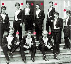 Bullingdon Club 1987 - David Cameron (2) Boris Johnson (8)