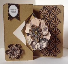 Craftwork Cards Diamond twister card used with Vogue collection. Card designed by Julie Hickey