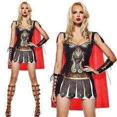 Pu Leather Roman Cosplay Spanish Folk Costume Female Gladiator Costume halloween Costumes for Women