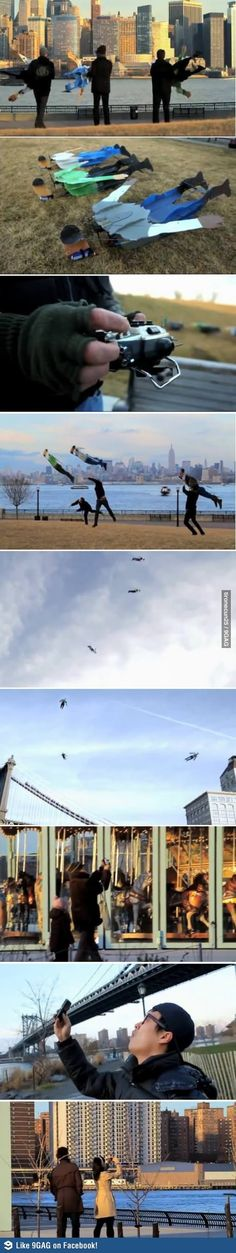 Flying people - Oh my gosh. That is the greatest thing ever. xD