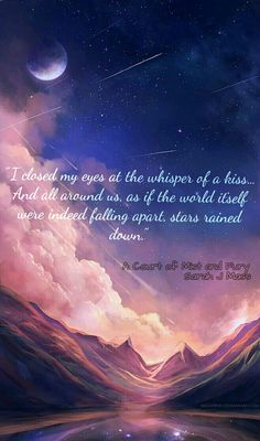 ACOMAF quote, Feysand, I just love them so much, Starfall...  I love this quote as it is the first time Feyre draws and it's a little star made of stardust on Rhys' hand. And then she SMILED for him.... The love.... The start..... Its just beautiful....