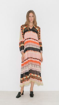 Cueta Tiers Dress by Apiece Apart Easy Wear, Dress Codes, Summer Wardrobe, I Dress, Nice Dresses, Cool Things To Buy, Fashion Looks, Women Wear, Fashion Outfits