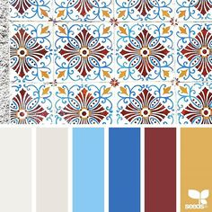today's inspiration image for { color tiled } is by . thank you, Maria, for another wonderful image share! Colour Pallette, Color Palate, Colour Schemes, Color Trends, Color Patterns, Color Combinations, Design Seeds, Color Tile, Pantone Color