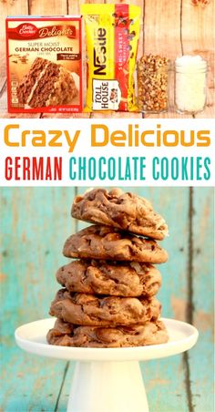 Easy German Chocolate Cake Mix Cookies Recipe Get Ready For Some Serious Coconut Pecan Heaven German Chocolate Cake Cookies, Chocolate Cake Mix Recipes, Cake Mix Cookie Recipes, Cake Recipes, Delicious Chocolate, Chocolate Chips, Cake Mix Biscotti Recipe, German Chocolate Cheesecake, Cookie Mixes