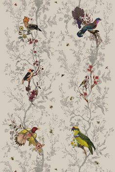 Birds n Bees fabric