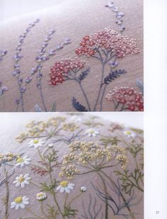 Embroidery patterns botanical herb embroidery by EllaCraft