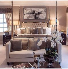 U201cBoudoir Luxe U201d   Love The Warm Rich Wall Color, Fabrics, And Reflective  Surfaces